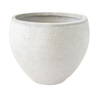 Round Beige Pot, 12,5 x 16 x 16''