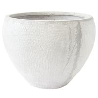 Round Beige Pot, 16,5 x 21,5 x 21,5''