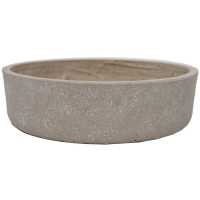 Grey Cement Saucer Planter, 4 x 14,5''