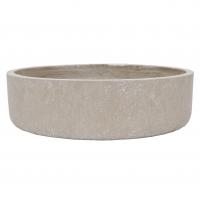 Grey Cement Saucer Planter, 5 x 18''