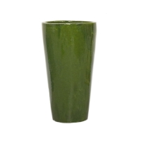 Round green ceramic planter 12x12x22''