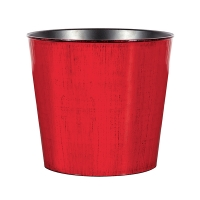 Pot rouge en plastique, 9''