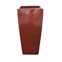 Pot rouge en terre cuite céramiqué 10 x 10 x 20''