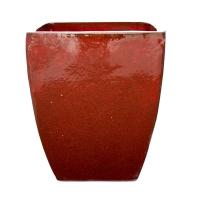 Pot rouge terre cuite céramiqué 12,2 x 12,2 x 13,2''