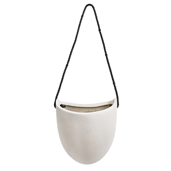 pot suspendu oval blanc 8 x 6 5 x 9 39 39 d cors v ronneau. Black Bedroom Furniture Sets. Home Design Ideas