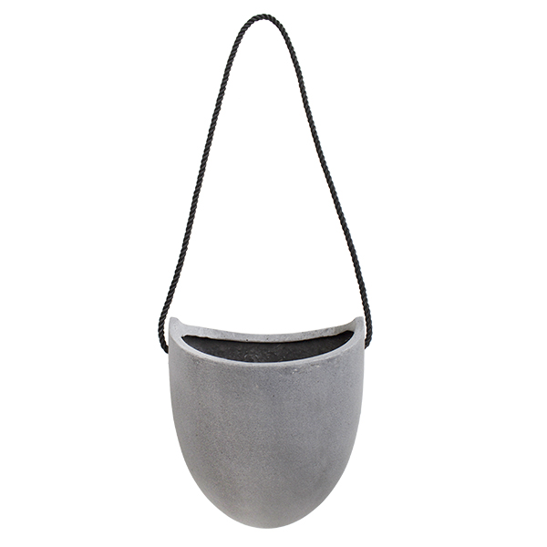 pot suspendu oval gris 8 x 6 5 x 9 39 39 d cors v ronneau. Black Bedroom Furniture Sets. Home Design Ideas