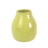 Pot vert en céramique 3,5x3,5x4''