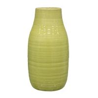 Pot vert en céramique  3x3x7''