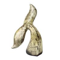 Silver shark tail, 7 x 5 x 12''