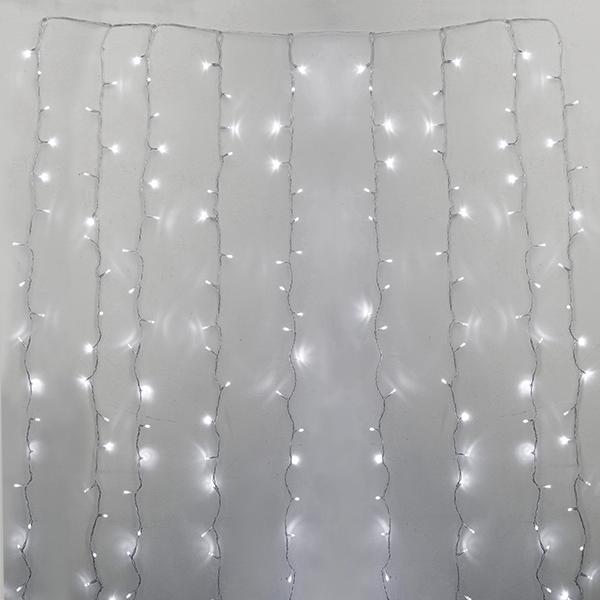 rideau de 600 lumi res del blanc pur fil clair int rieur d cors v ronneau. Black Bedroom Furniture Sets. Home Design Ideas
