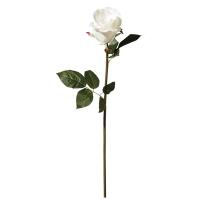 Rose blanche sur tige 26'', élégance