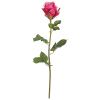 Pink French Rose Stem, 28''