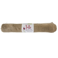 Christmas natural  jute roll 21'' x 5 yards