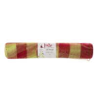 Christmas mesh roll green and red 21'' /10 yards