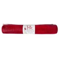 Ruban de tulle rouge métallisé 21'' x 10 verges