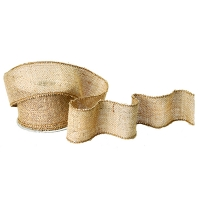 Burlap ribbon, 10 yards