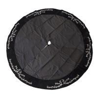 Ruban poinsettia noir et blanc 4'' x 10 verges