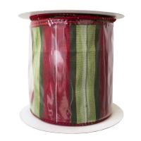 Ruban rouge et vert 4'' x 10 verges