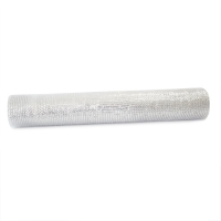 Christmas mesh roll silver 21''/ 10 yards