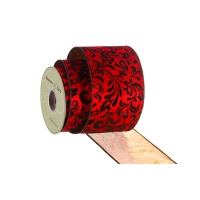 Red velvet ribbon 4'' x 10 verge