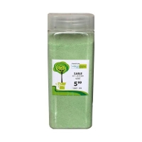 green sand 0.1-0.3 mm in a jar of 550 ml / 850 gr
