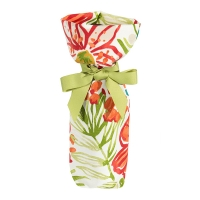Outdoor tropical flower pattern wine bag