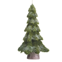 Frosted tree ornament, 36''