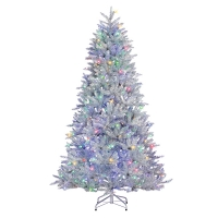7,5'  Led color changing silver parkview pine, 55'' diam.