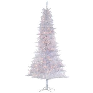 Sapin blanc tinsel 9' x 53'' diam. 650 lumières incandescent