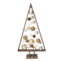 Wood with ornament christmas tree, 6'