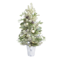 3' Spruce potted tree with decoration