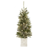 4,5' Lighted potted spruce tree