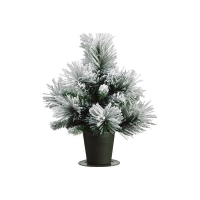 15'' Snowy Christmas tree in a pot