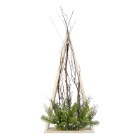 Illuminated fir, natural look, 34''