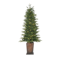 6' Potted illuminated tree, 33'' diam.