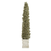 52'' Slim lighted entrance spruce tree