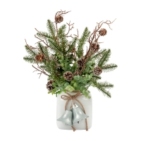 Evergreens and Eucalyptus in Vase