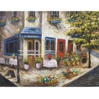Scène de rue fleurie 36 x 48''