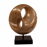 Ying Yang sculpture ivory 7x15