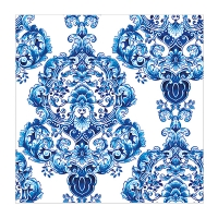 Serviette de table motif bleu 6,5'', paquet de 22