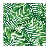 Serviette de table motif feuillage tropical 6,5'', paquet de