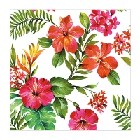 6,5'' Hawaiian flower paper napkin, 20 pack