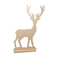 Silhouette de cerf en bois, 45 x 31.5''