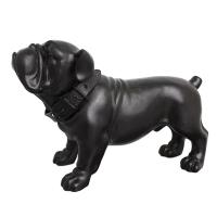 Statuette, chien bulldog, 13 x 5 x 8''