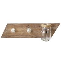 Fir wood glass bottle holder, 24 x 4 x 6''