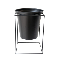 Black Metal Plant Stand with Pot