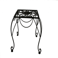 Plant stand in wrought iron 10x10x10''