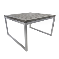 Plastic wood and aluminium coffee table, dark grey 17 x 27,5