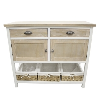 Console table 2 drawers & 2 doors, wood, 41 x 16 x 35''