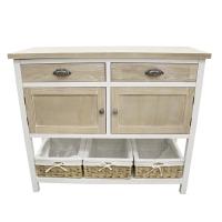 Table console 2 tiroirs 2 portes, bois, 41 x 16 x 35''